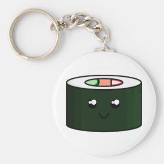 Cute Sushi Basic Round Button Keychain