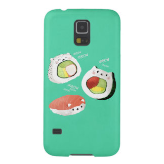 Cute Sushi Cat Case For Galaxy S5