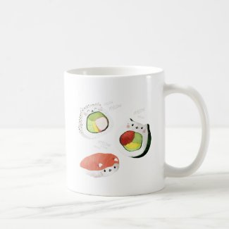 Cute Sushi Cat Coffee Mug