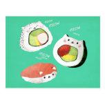 Cute Sushi Cat Postcard
