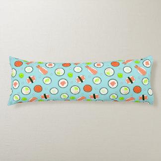 Cute Sushi Pattern Blue Body Pillow