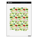 Cute Sushi Pattern Skin Decals For iPad 2