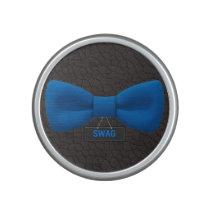 Cute Swag Blue Bow Tie Bluetooth Speaker
