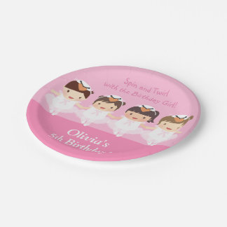 Cute Swan Ballerina Birthday Party Supplies Paper Plate