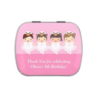 Cute Swan Ballerina Birthday Party Treats Candy Tin
