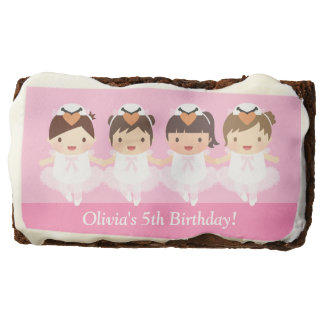 Cute Swan Ballerina Birthday Party Treats Chocolate Brownie