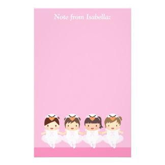 Cute Swan Ballet Ballerina For Girls Stationery