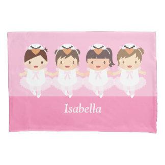 Cute Swan Ballet Ballerina Girls Room Decor Pillow Case