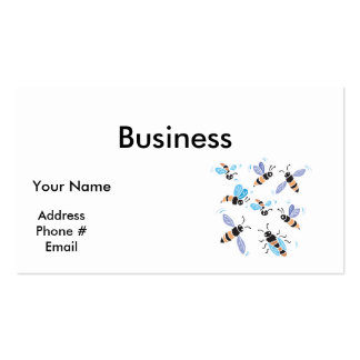 cute swarm of bees business card