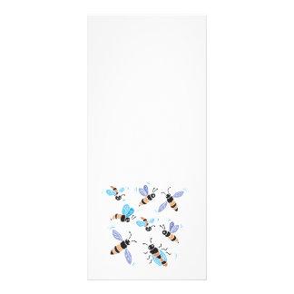 cute swarm of bees rack card