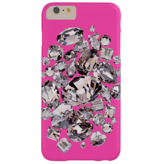 Cute Swarovski in hot bright pink VS style Barely There iPhone 6 Plus Case