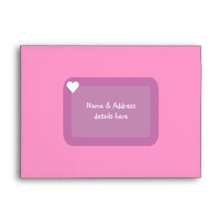 Cute Sweet 16 Clothes & Accessories Pink Custom Envelope