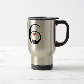 Cute Sweet 16 Cupcake and Polkadot Present 15 Oz Stainless Steel Travel Mug