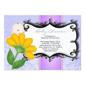 CUTE Sweet Baby Girl purple Shower Card