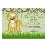 CUTE Sweet Baby Panther Vines Jungle Birthday Custom Announcement