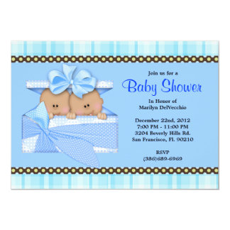 CUTE Sweet Blue Baby Shower Invites
