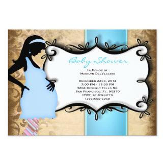 CUTE Sweet Boy Baby Blue Shower Card