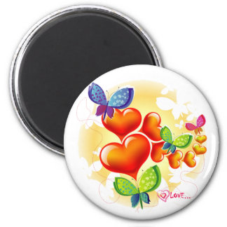 Cute Sweet Colorfull Summer Love Friendship 2 Inch Round Magnet