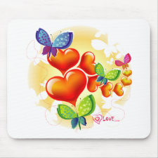 Cute Sweet Colorfull Summer Love Friendship Mouse Pads