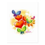 Cute Sweet Colorfull Summer Love Friendship Post Card