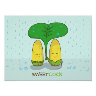 cute sweet corn love couple for someone special poster