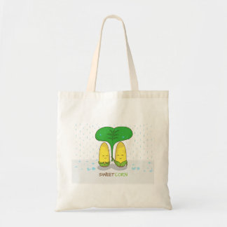 cute sweet corn love couple for someone special tote bag