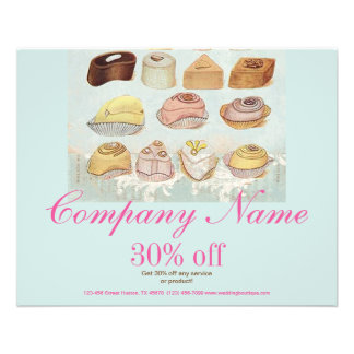 cute sweet dessert chocolate cookies bakery flyer