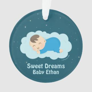 Cute Sweet Dreams Sleeping Baby Boy Room Decor Ornament