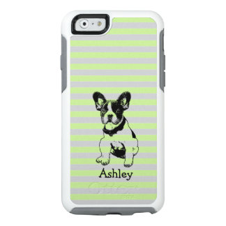 Cute Sweet French Bulldog Puppy Custom Name Color OtterBox iPhone 6/6s Case