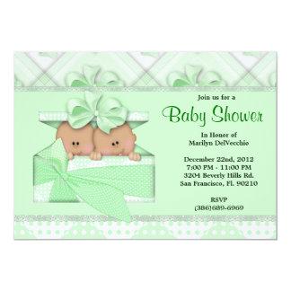 CUTE Sweet Green Baby Shower Custom Invites