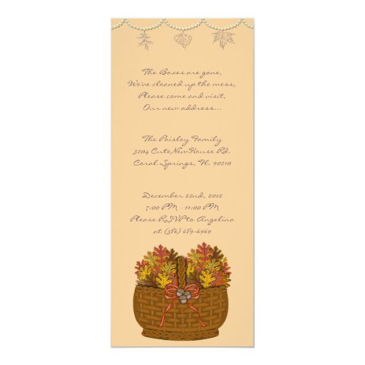 """CUTE Sweet House Warming Party Invite 4"""" X 9.25"""" Invitation Card"""