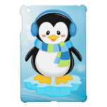 cute sweet little boy bundled up penguin cartoon cover for the iPad mini