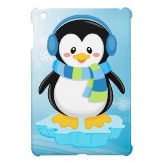 cute sweet little boy bundled up penguin cartoon iPad mini case