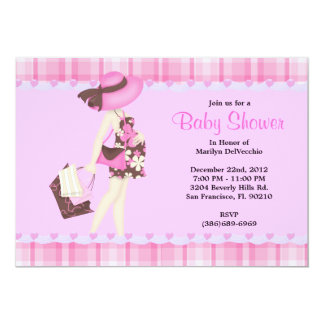 CUTE Sweet PINK Baby Shower Personalized Announcements