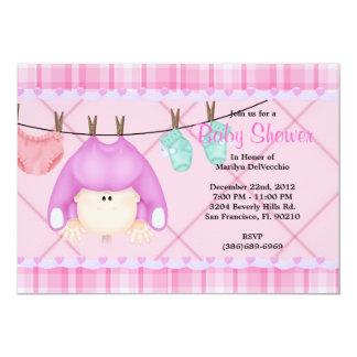 CUTE Sweet PINK Girls Baby Shower Custom Invite
