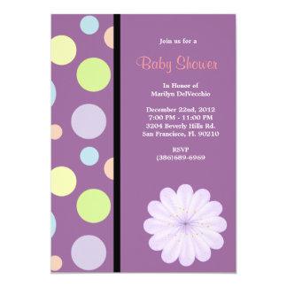 CUTE Sweet Pink Purple Baby Shower Custom Announcements