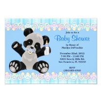 CUTE Sweet Plush Baby Panda Bear Baby Shower Card