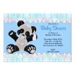 CUTE Sweet Plush Baby Panda Bear Baby Shower 5x7 Paper Invitation Card