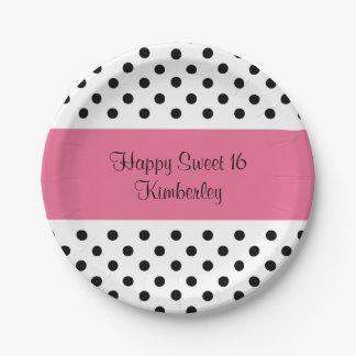 Cute Sweet Sixteen Paper Plate