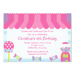 Cute Sweet Treats Birthday Party Invitation