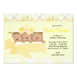 CUTE Sweet Yellow Baby Shower Personalized Announcement