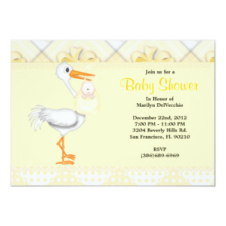 CUTE Sweet Yellow Baby Shower Personalized Invite