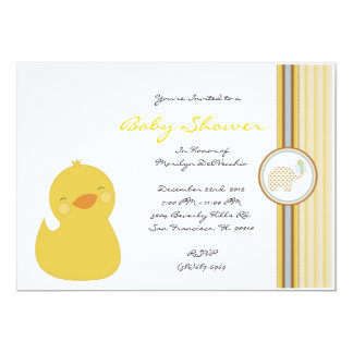 CUTE Sweet Yellow Ducky Baby Shower Personalized Invite
