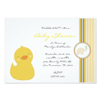 CUTE Sweet Yellow Ducky Baby Shower Personalized Invites