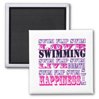 Cute Swim Gifts and Apparel for Girls and Women Refrigerator Magnet