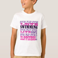 Cute Swim Gifts and Apparel for Girls and Women T-Shirt