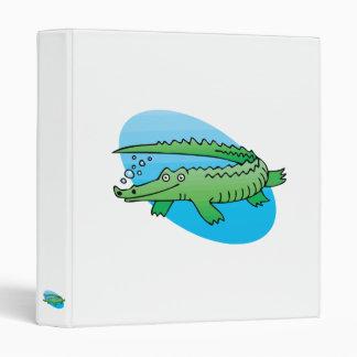 cute swimming alligator binder
