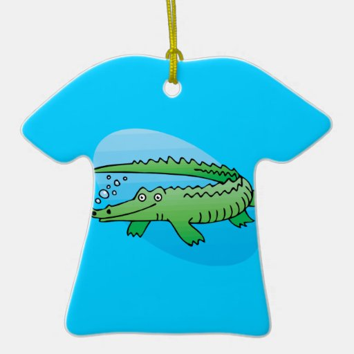 cute swimming alligator Double-Sided T-Shirt ceramic christmas ornament