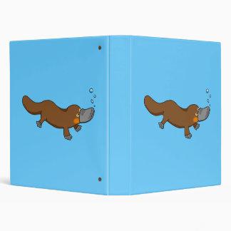 Cute swimming duck-billed platypus binder