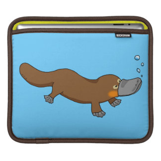 Cute swimming duck-billed platypus sleeve for iPads